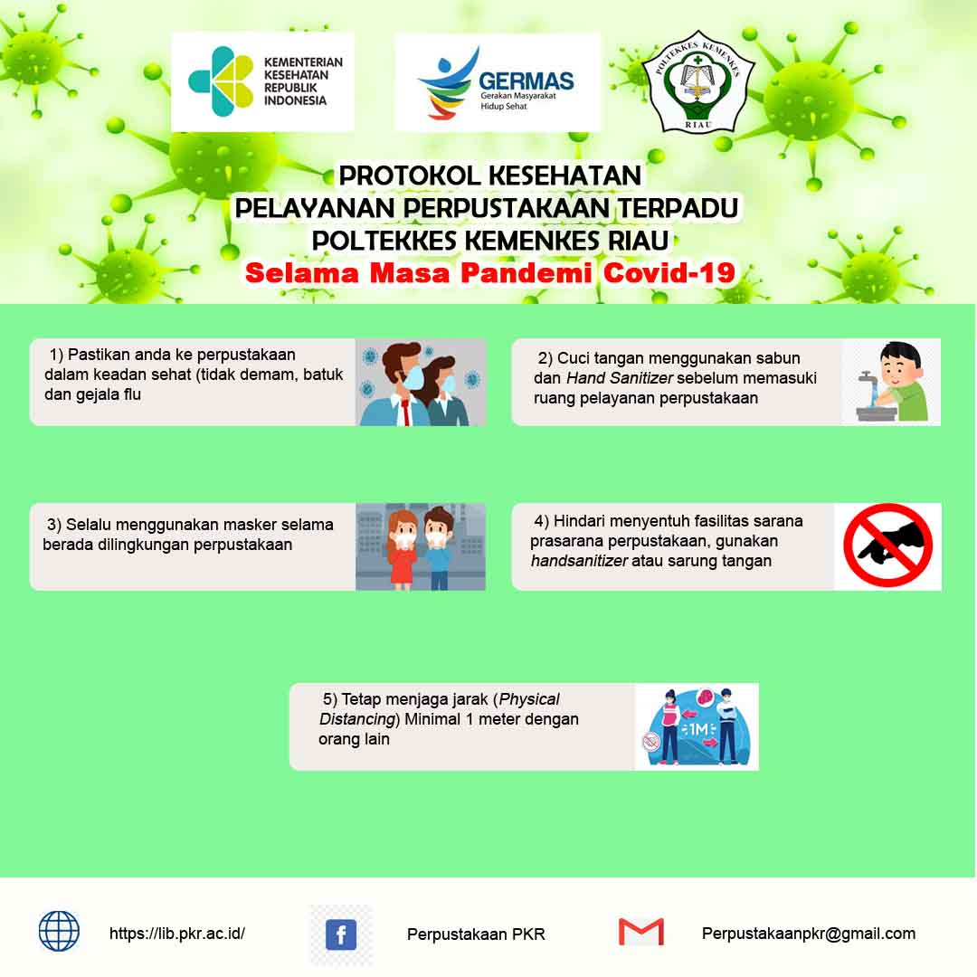 Protokol kesehatan Pelayanan Perpustakaan Terpadu Poltekkes Kemenkes Riau